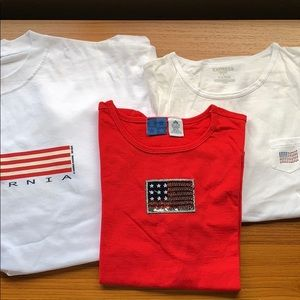 ** today only ** 3 American Flag tshirts NEW!
